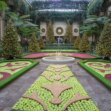 Longwood Gardens Christmas design using apples and cranberries.