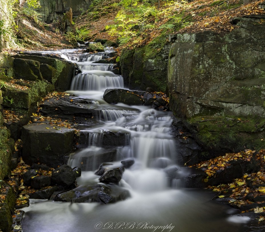 Taken at Lumsdale Falls in the Peak District, Derbyshire, 8 second exposure using a 6 stop ND fil...