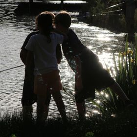 My daughter was joining a couple of children fishing on the banks  Cameron Park Lake, CA I dedicate this photo to my daughter. She's has an ...
