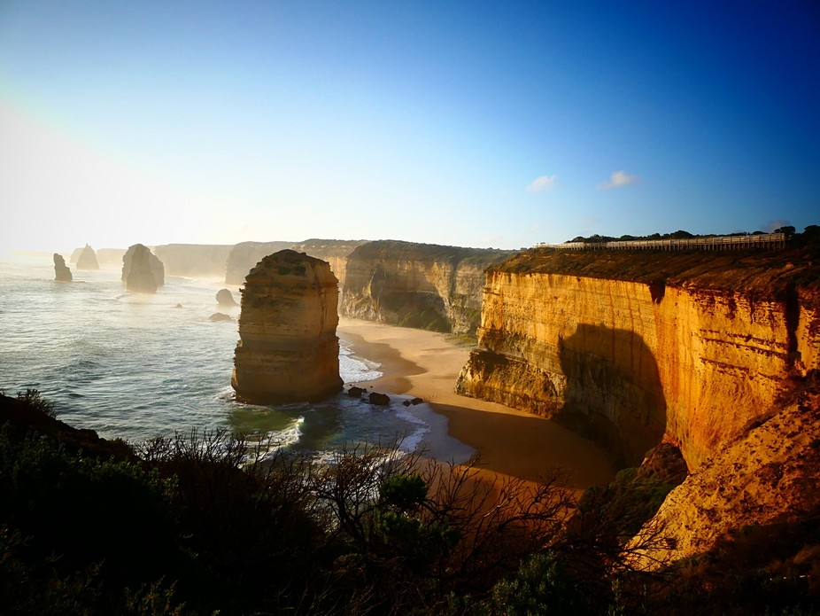 A sunset at the Twelve Apostles in Victoria, Australia is worth the visit. And worth taking your ...