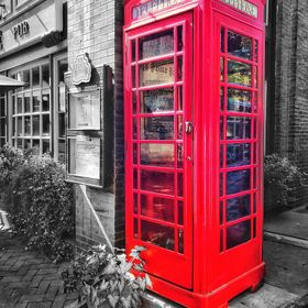 Old is Gold!! London style Telephone Booth in Savannah, US
