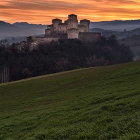 The beautiful castle of Torrechiara, near to Parma, in the north of Italy.