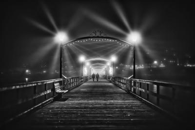 Walking Towards The Light - B&W