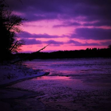 Taken at dusk from Ron Hall Landing, Int'l Falls, Mn. facing west Nikon 6500 SV special effects