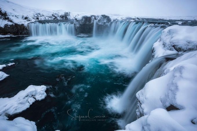 Godafoss waterfalls by stephenhunt - The Cold Winter Photo Contest
