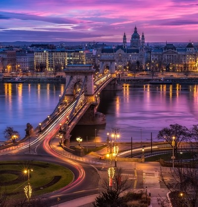 Glowing Sky over Budapest.