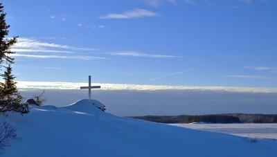 Cross Along the Ice Road