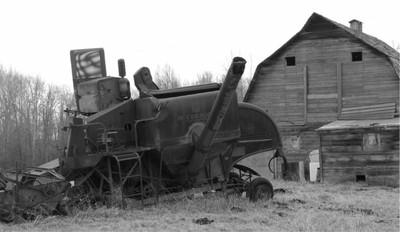 Abandoned combine