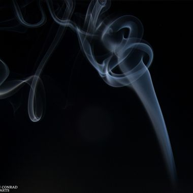 Incense Smoke Trail Caught With Speedlight
