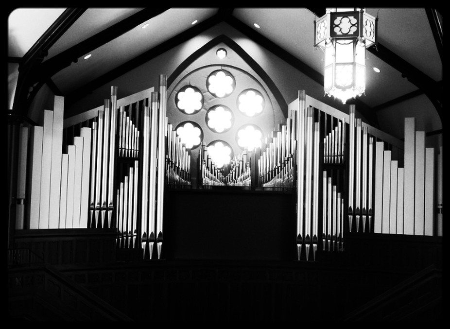 After Fire Rebuild - Organ Pipes - Nikon