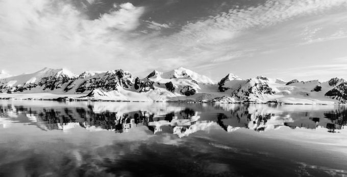 The Perfect calm black and white. by NedBurrell - Winter In Black And White Photo Contest