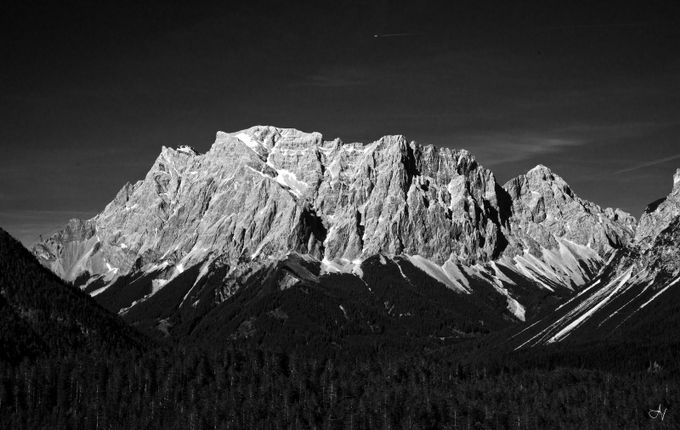 Zugspitze by ArtistaVivente - Black And White Mountain Peaks Photo Contest