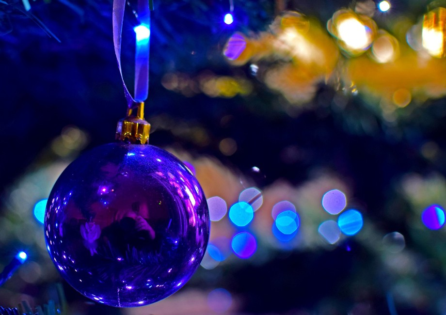 Christmas tree bauble with Bokeh