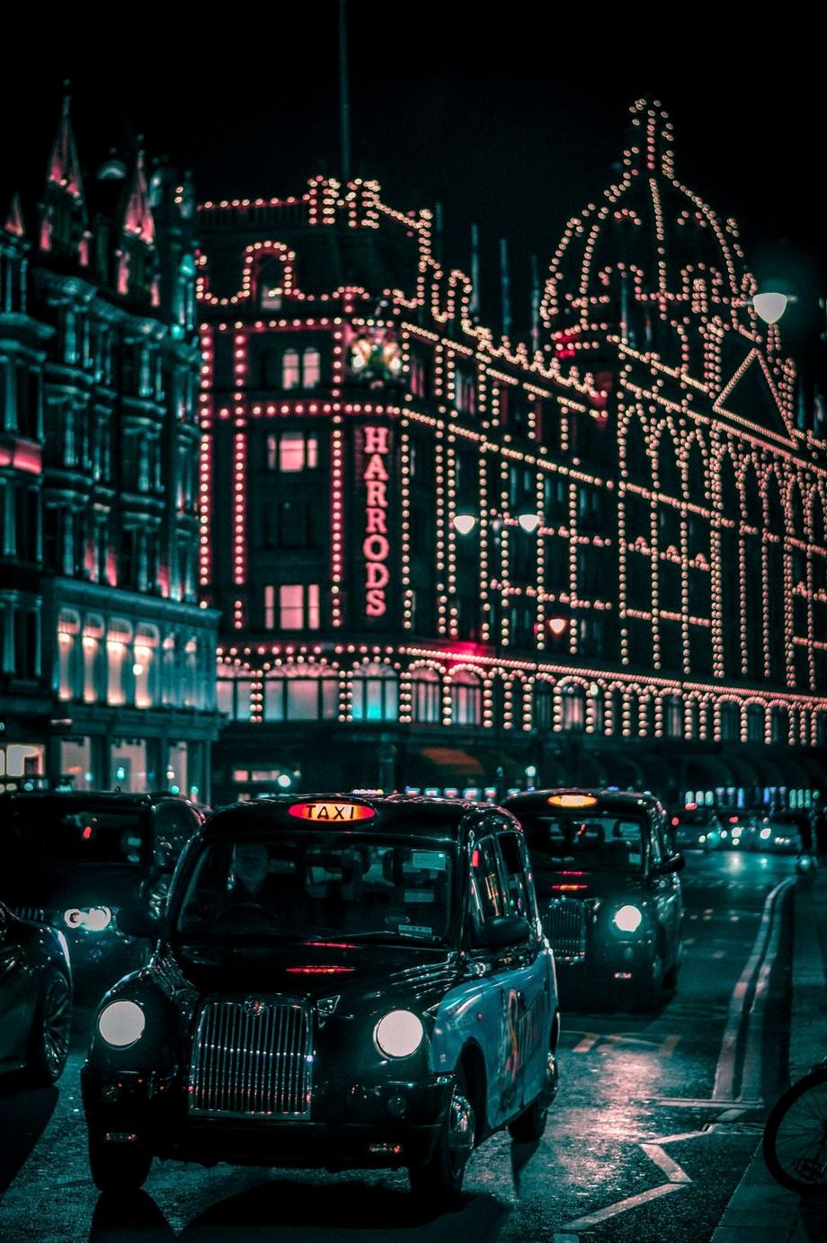 Harrods At Christmas by kierandurrantphotography - Holiday Lights Photo Contest 2017