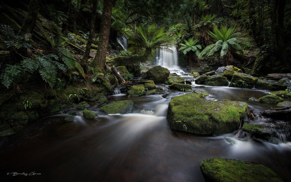 Horseshoe Falls, Mt Field National Park (Central Highlands), Tasmania, Australia.