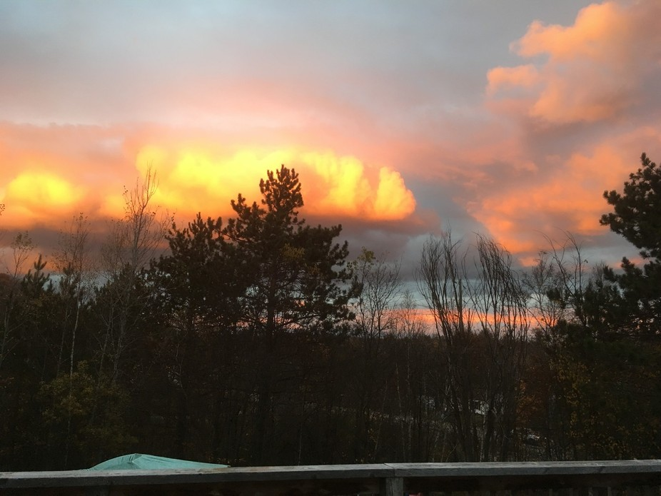 Taken shortly before the sunset from our back deck in Bancroft, ON.