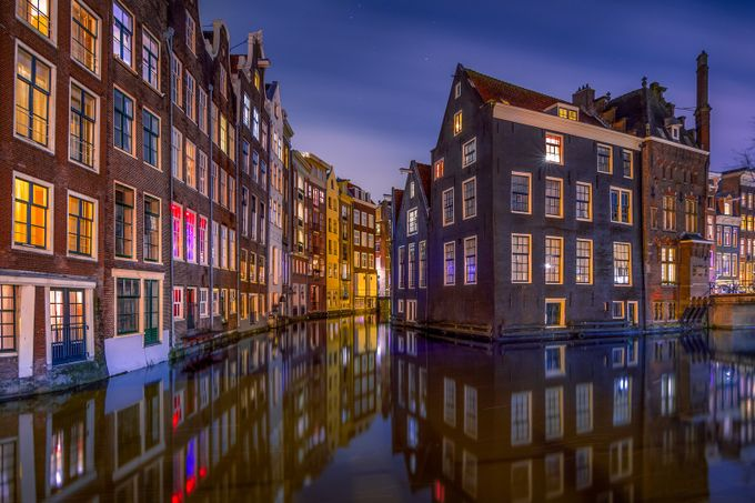 Amsterdam Nights by martijnvdnat - Architecture And Reflections Photo Contest