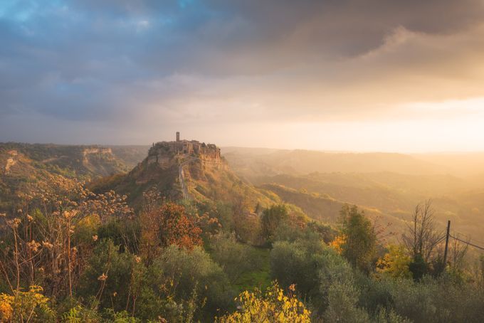 Unexpected sunrise at Civita di Bagnoregio by Gilmour82 - Covers Photo Contest Vol 44