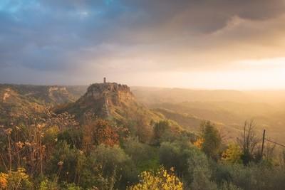 Unexpected sunrise at Civita di Bagnoregio