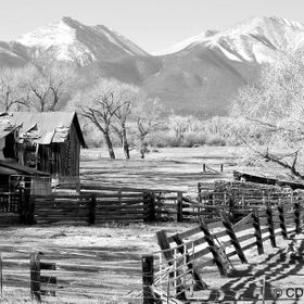 A well-aged ranch along the Collegiate Peaks Scenic Byway in central Colorado.