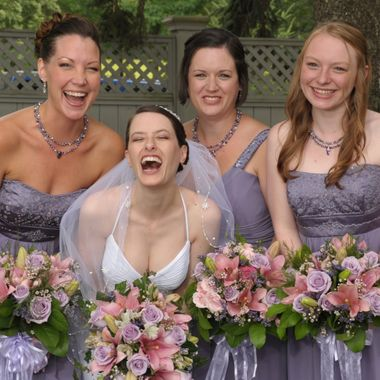 Bridal Party Cracking Up