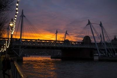 Waterloo Sunset and Footbridge