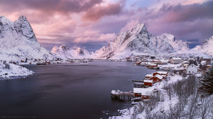 Sunset over Reine by Rodrigueelhajj - Towns In The Winter Photo Contest