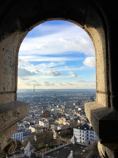 Basilica's view of Paris
