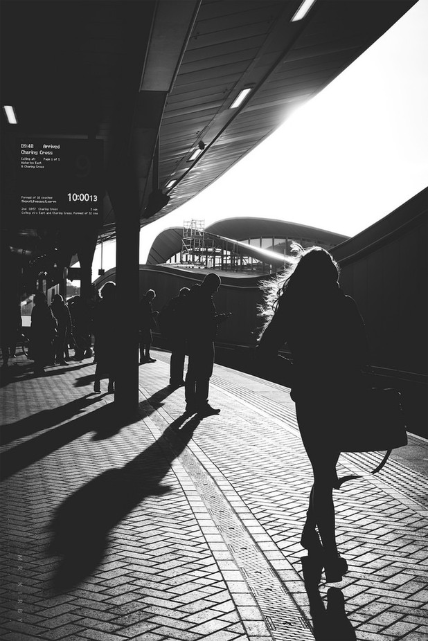 Platform 9. by mrkirby - City Life In Black And White Photo Contest