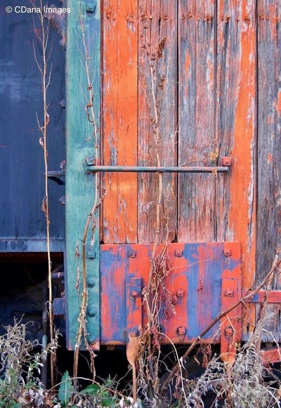 Vintage train car siding