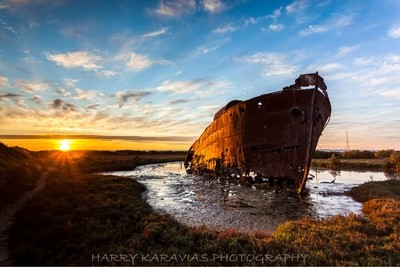 Ship Wreck, Sth Australia. I'd heard about this little gem so I went out in search for it. I started with google earth. I got there pretty early, so did the mosquitoes. Great sunrise.