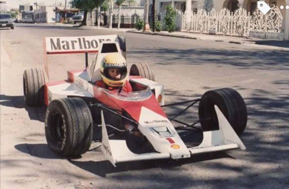 I built for my son during the early '90s when Senna was on top of his game. Nikkormat FTN w/50m...