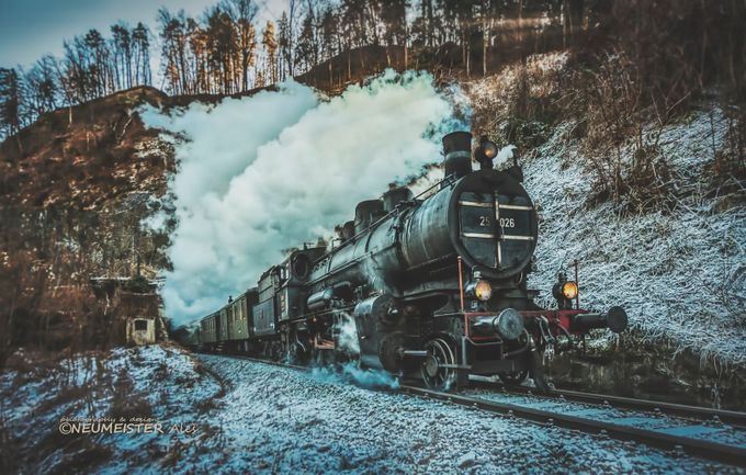 steam train  by ales_neumeister - Covers Photo Contest Vol 44