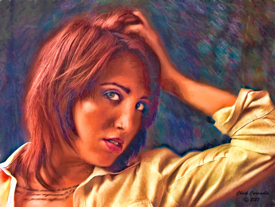 Photography - Digital Manipulation / Painting. Realistic Expressionism. Model: Angel