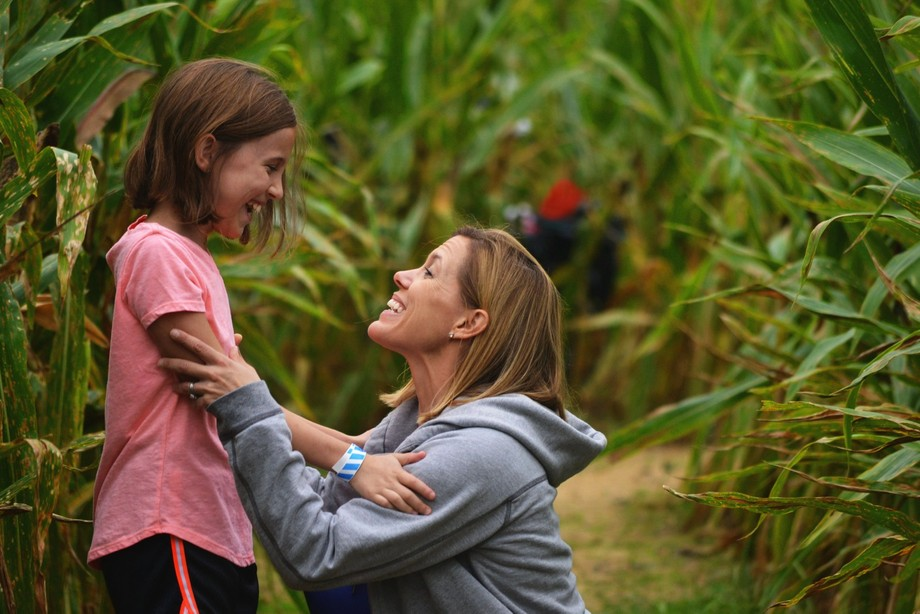 Got this photo of my mom and sister at a pumpkin patch.
