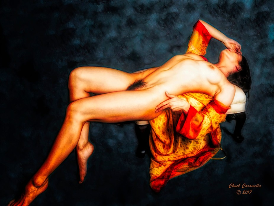 Photography - Digital Manipulation / Painting. Realistic Expressionism. Model: Sekaa