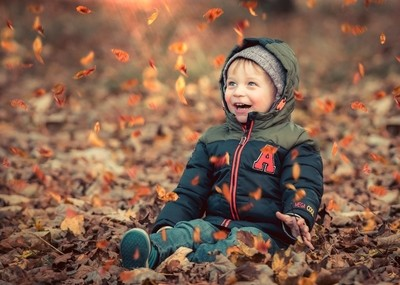 Fun in the Autumn Leaves