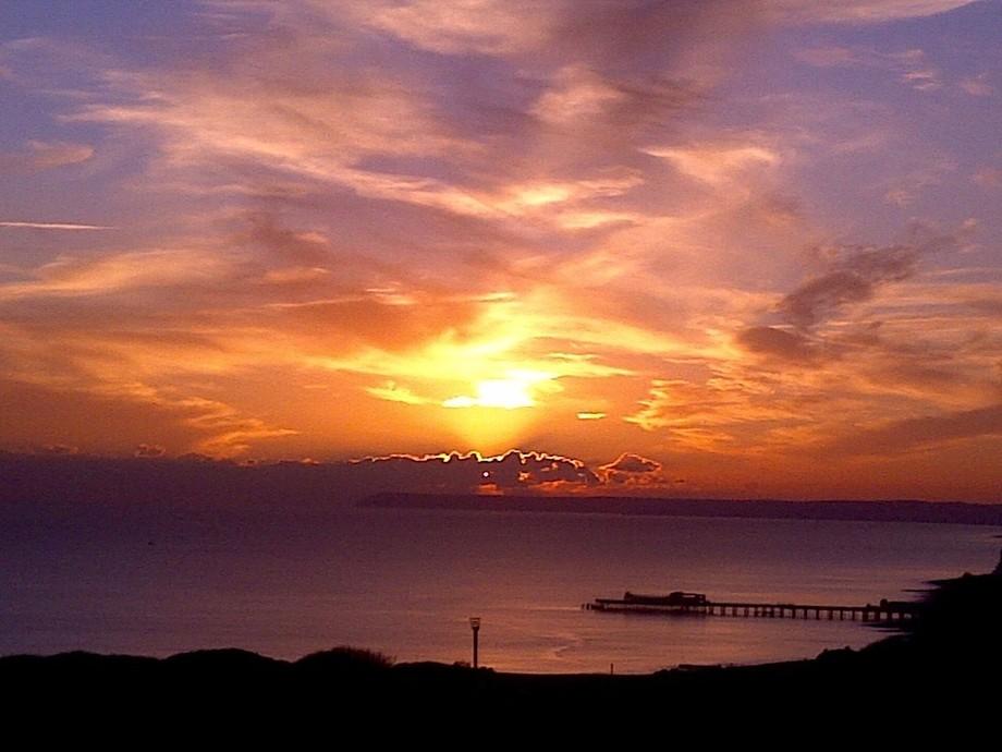Hastings Pier, November evening