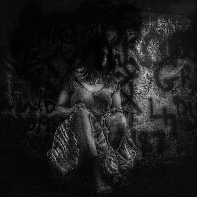 The Graffiti  by Girlwiththepearl - City Life In Black And White Photo Contest