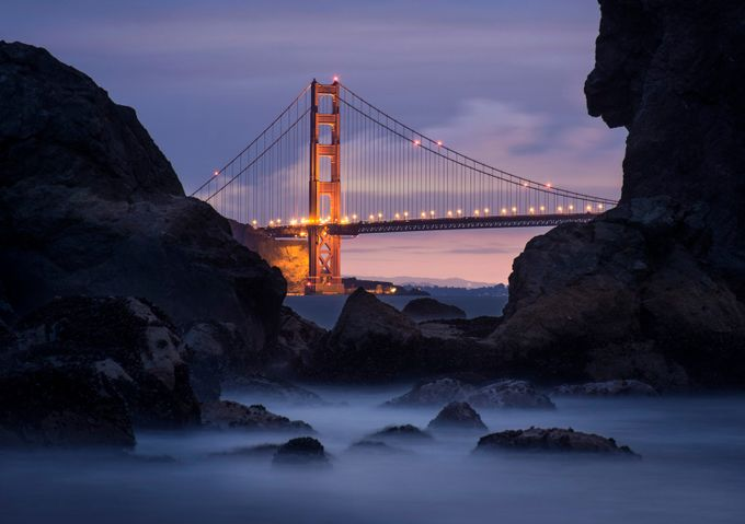 Golden Gate Bridge at Dawn by ConorEgan - Spectacular Bridges Photo Contest