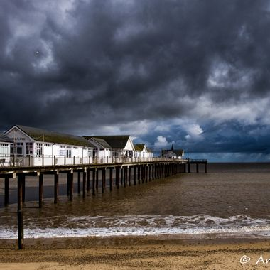 The spring weather shows its teeth in Southwold, England. This photo was taken in March, at about noon!