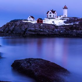 Holiday Lights at Nubble Lighthouse