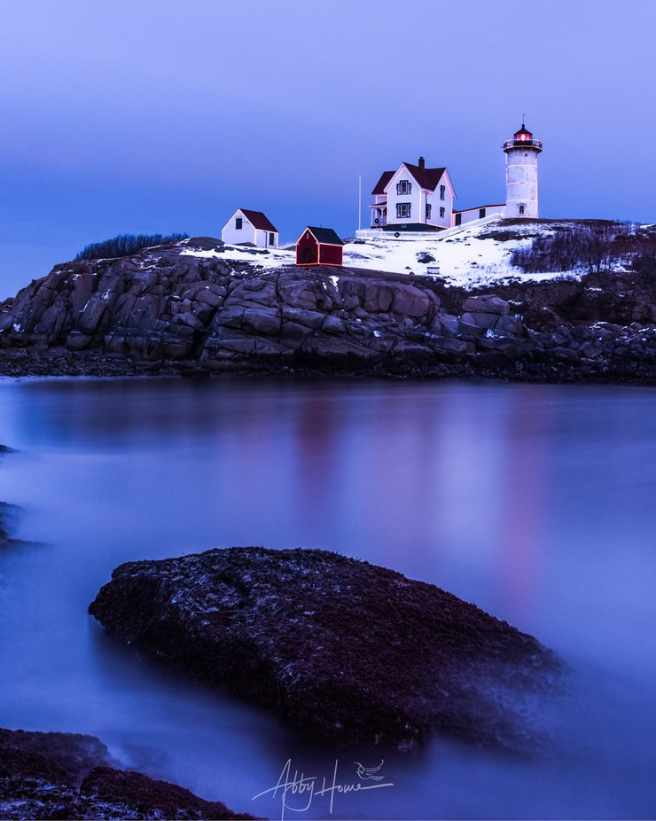 Holiday Lights at Nubble Lighthouse by dearabbybird - Monthly Pro Vol 38 Photo Contest