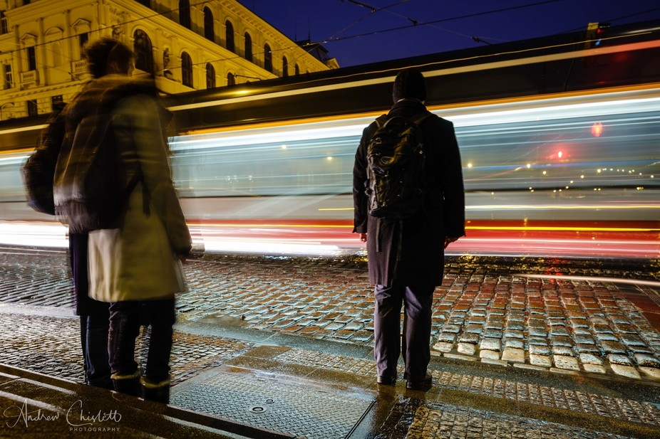 Prague commuters