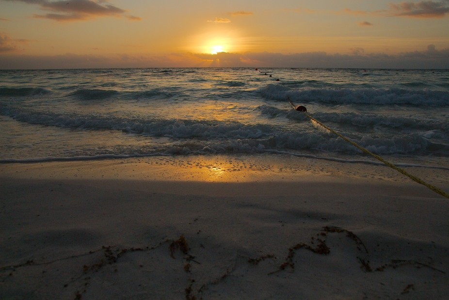 Late sunrise at 7.18 a.m. in Tulum, Mexico.