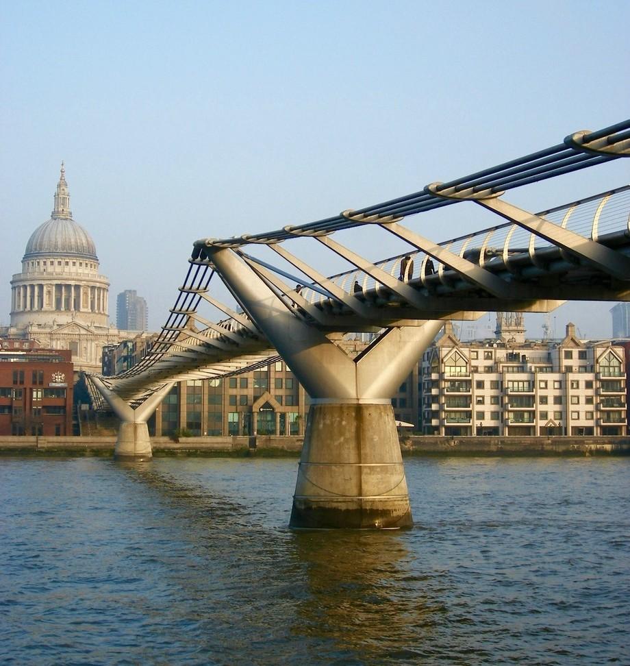 St Pauls and the Milennium Bridge