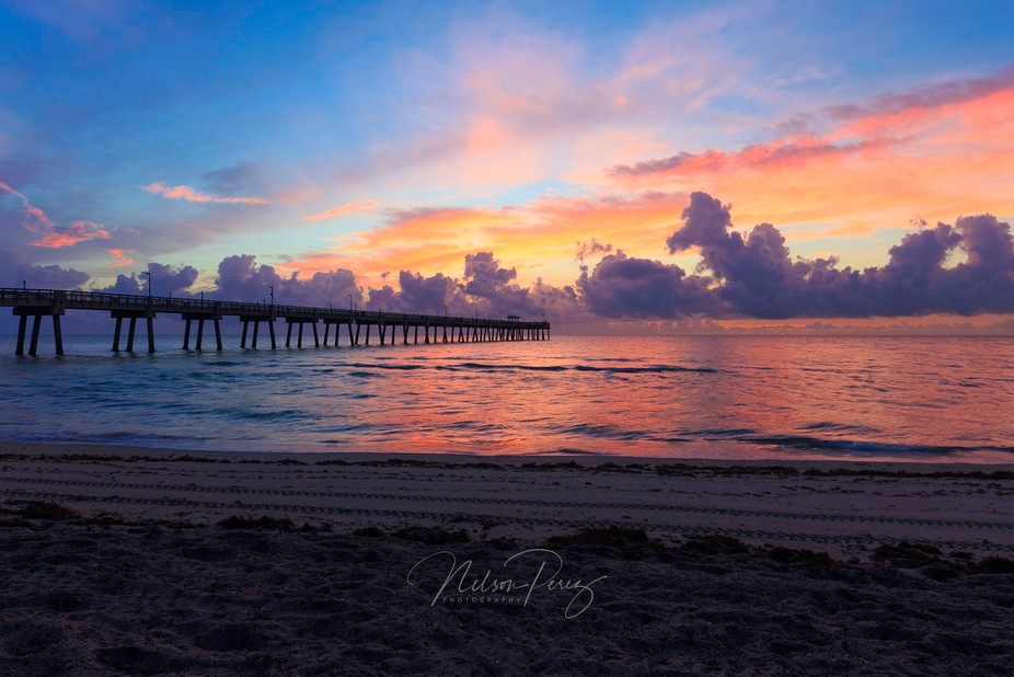 Sunrise at Dania Beach Pier