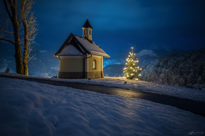The little chapel by andreasheld - Towns In The Winter Photo Contest