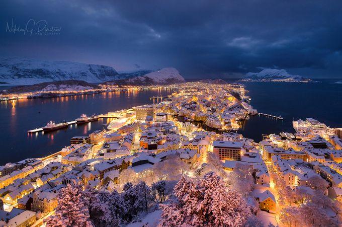 Winter in Ålesund by nikolaydimitrov - My City Photo Contest