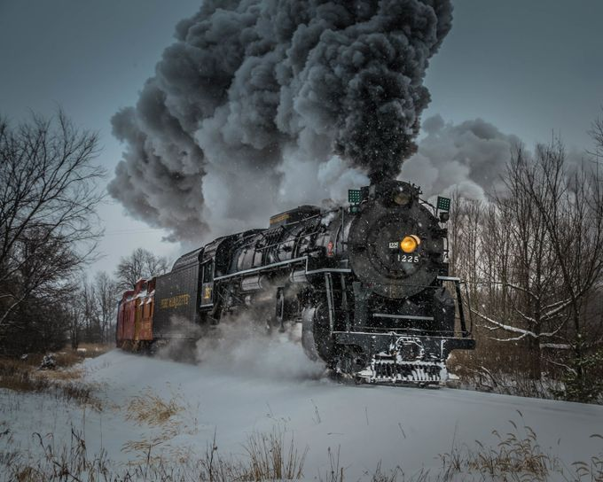 The Pere Marquette aka The Polar Express by HillaryNicholeSaunders - Social Exposure Photo Contest Vol 13